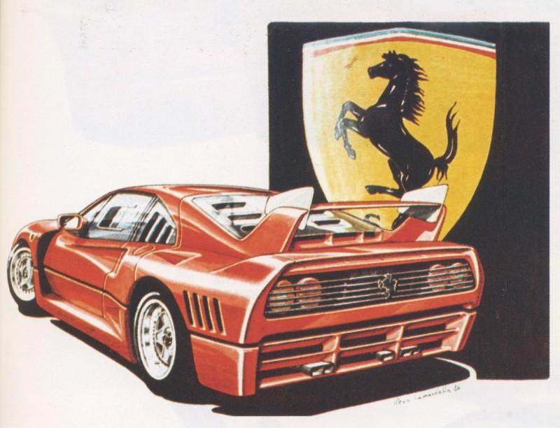 O design da Ferrari F40 -