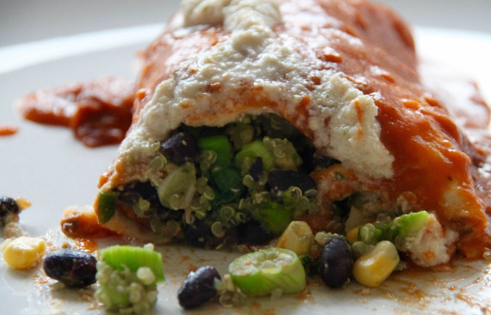 Enchilada with Lime Sauce