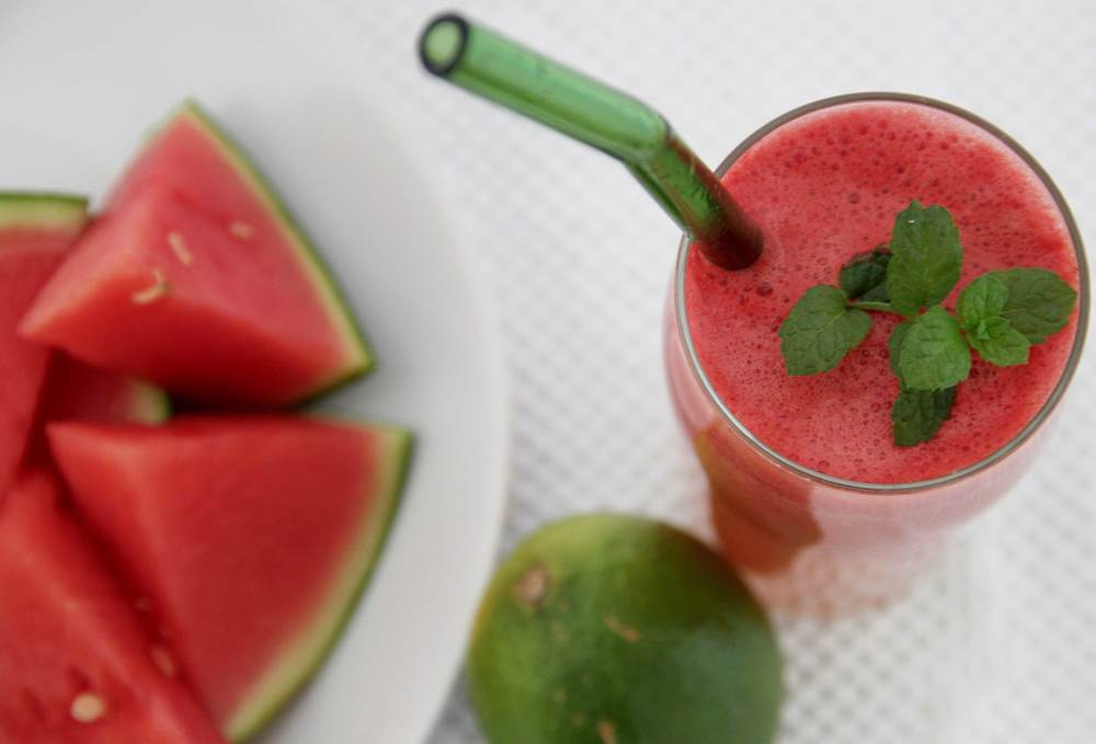Watermelon Lime Juice with Mint