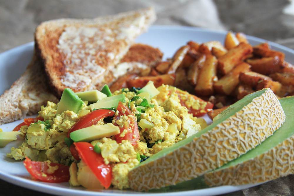 Scrambled Tofu w Roasted Potatoes