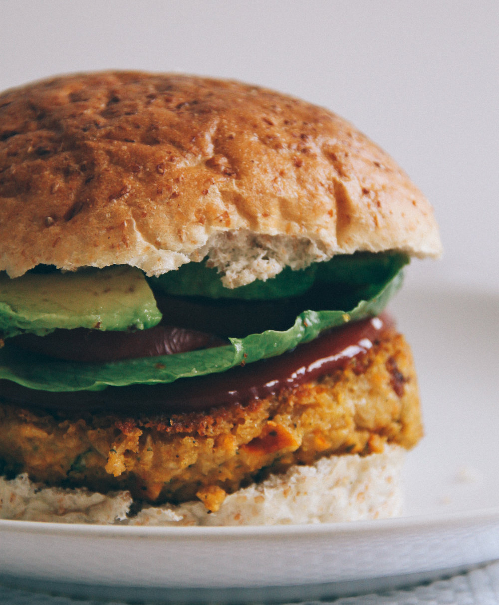 Sundried Chickpea Mustard Burger