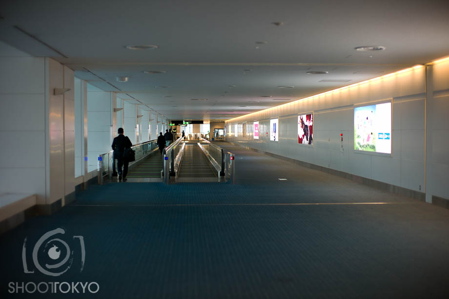 Emptyness Terminal 2 Haneda International Airport