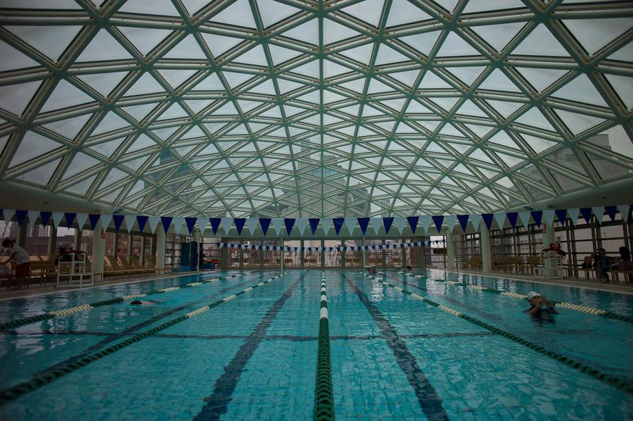 Roof Top Pool at The Tokyo American Club in Tokyo, Japan