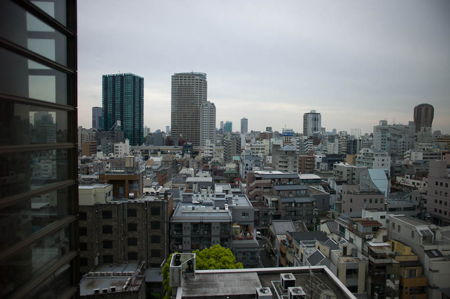 A view of Tokyo from The Tokyo American Club in Tokyo, Japan
