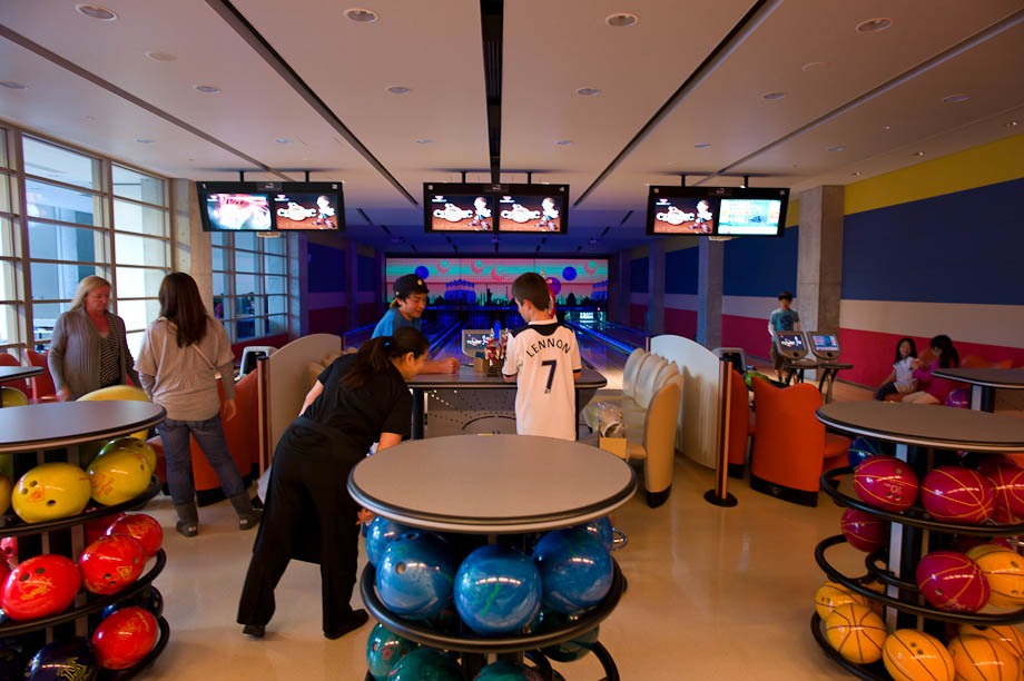 The bowling alley at The Tokyo American Club in Tokyo, Japan