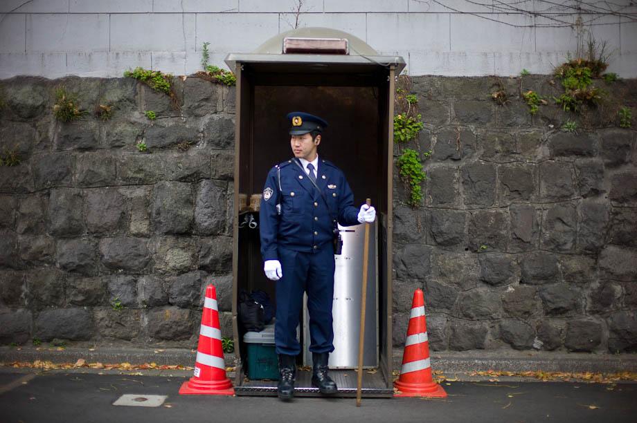 Police in Azabudai, Tokyo, Japan
