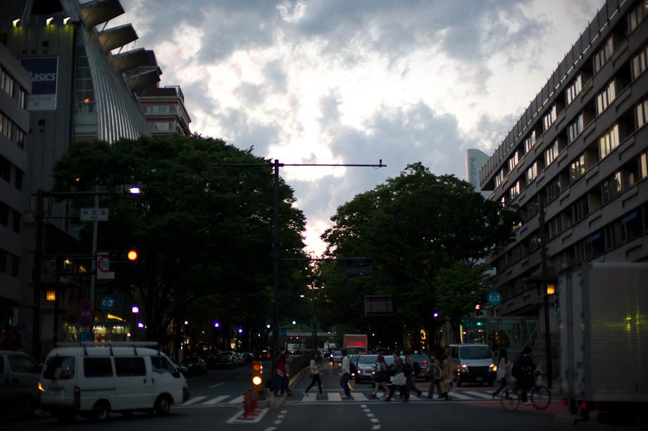 Nice sky over Harajuku, Tokyo, Japan