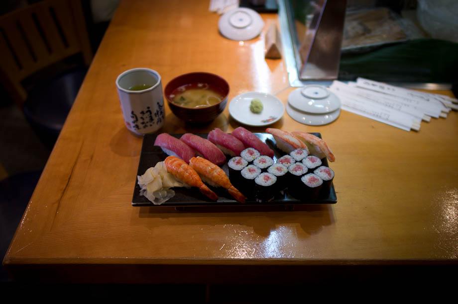 Sushi in Shinjuku Tokyo Japan