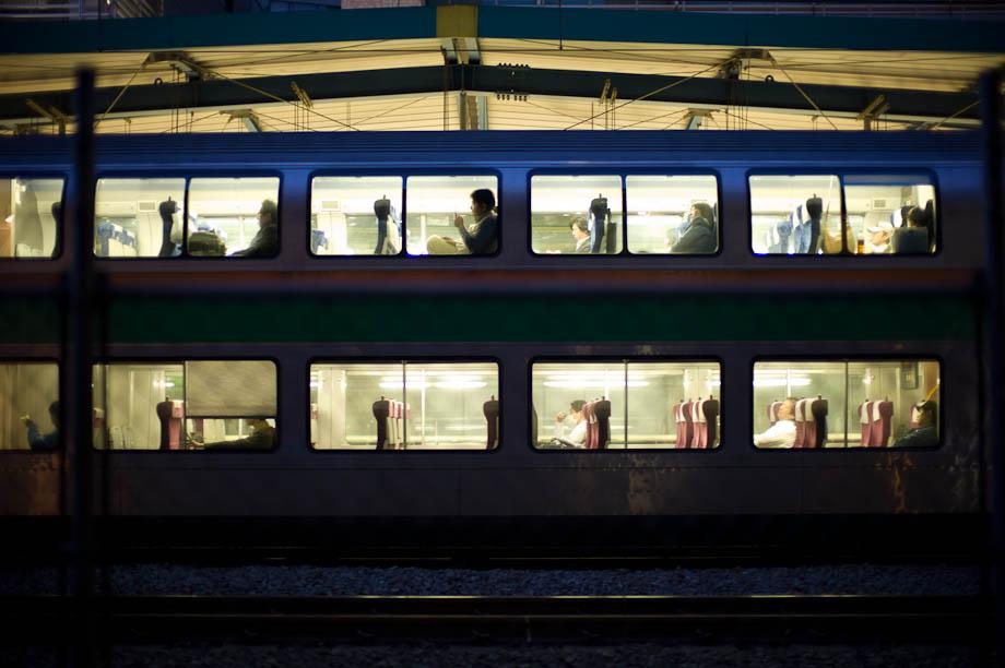 Train between Daikanyama and Shibuya in Tokyo, Japan