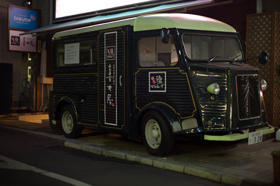 Citroen Van turned into a mobile food station