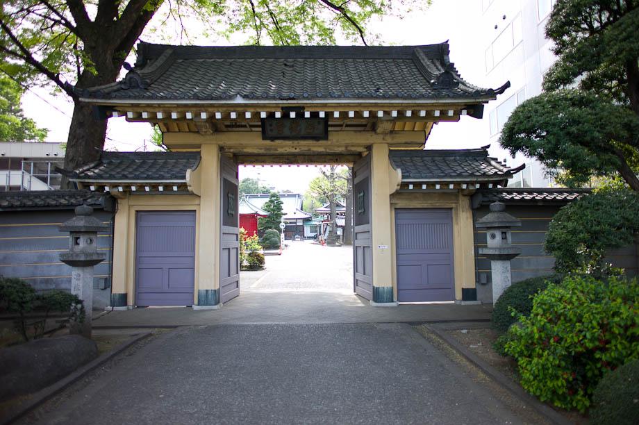 Temple in Nakameguro, Tokyo, Japan