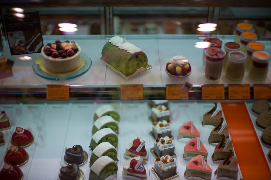 Cakes in Nakameguro, Tokyo, Japan