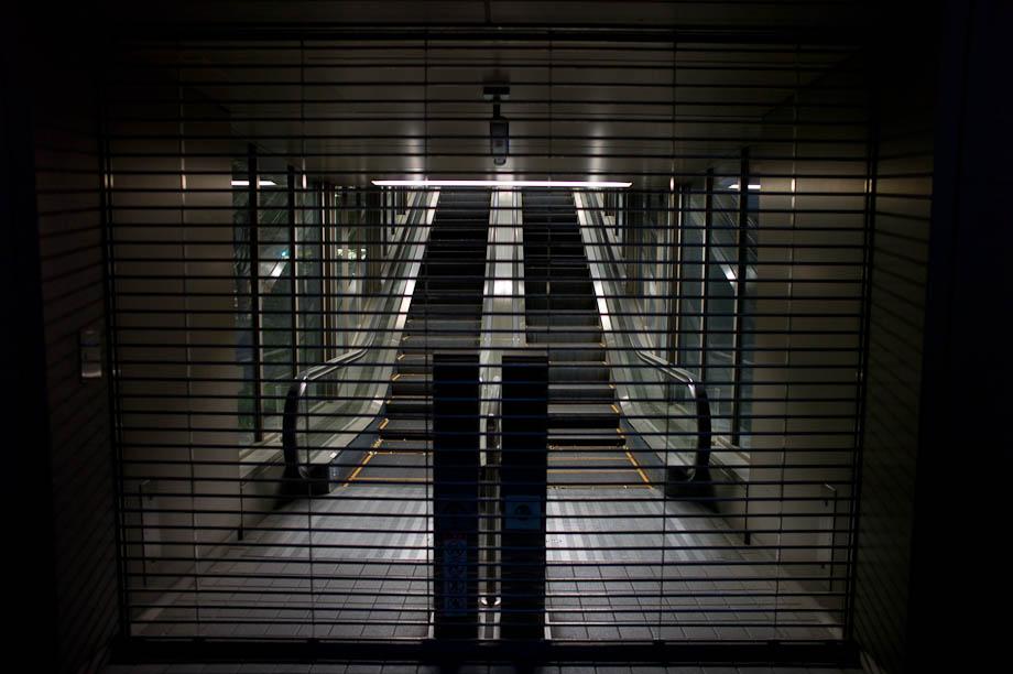 Escalators, Shinjuku, Tokyo, Japan