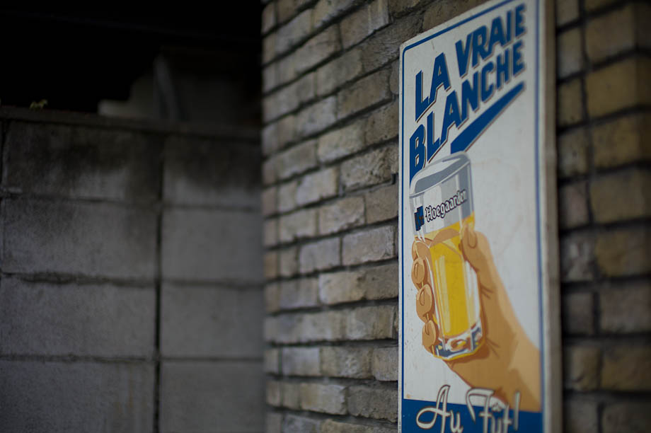 Hogaarden Beer sign in Shinjuku, Tokyo, Japan