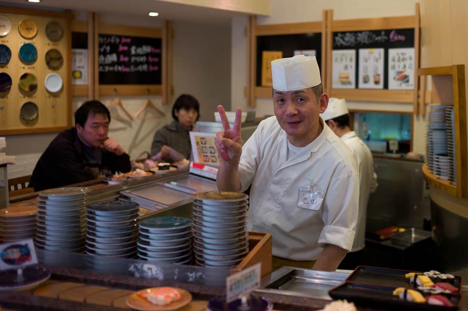 Tokyo Kaiten Sushi, Shinjuku, Tokyo, Japan