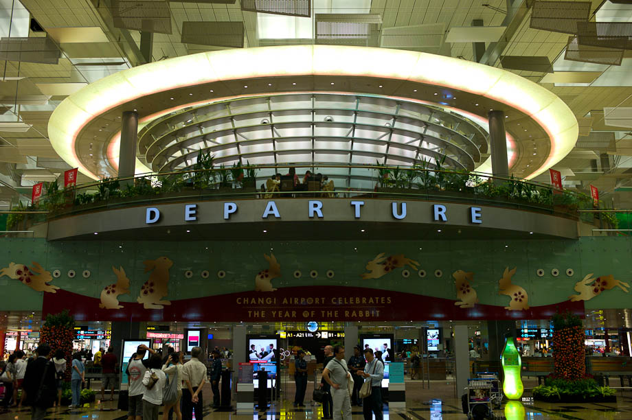 Departures, Changhi Airport, Singapore