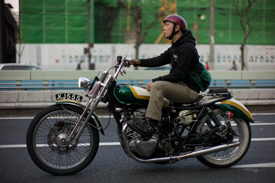 Motorcycle in Nakameguro, Tokyo, Japan