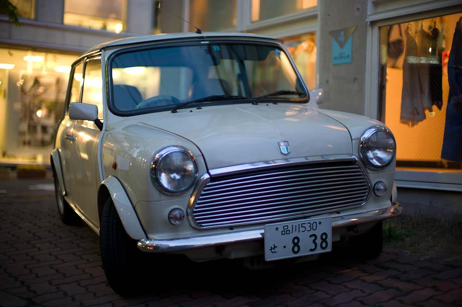 Mini Cooper in Harajuku, Tokyo, Japan