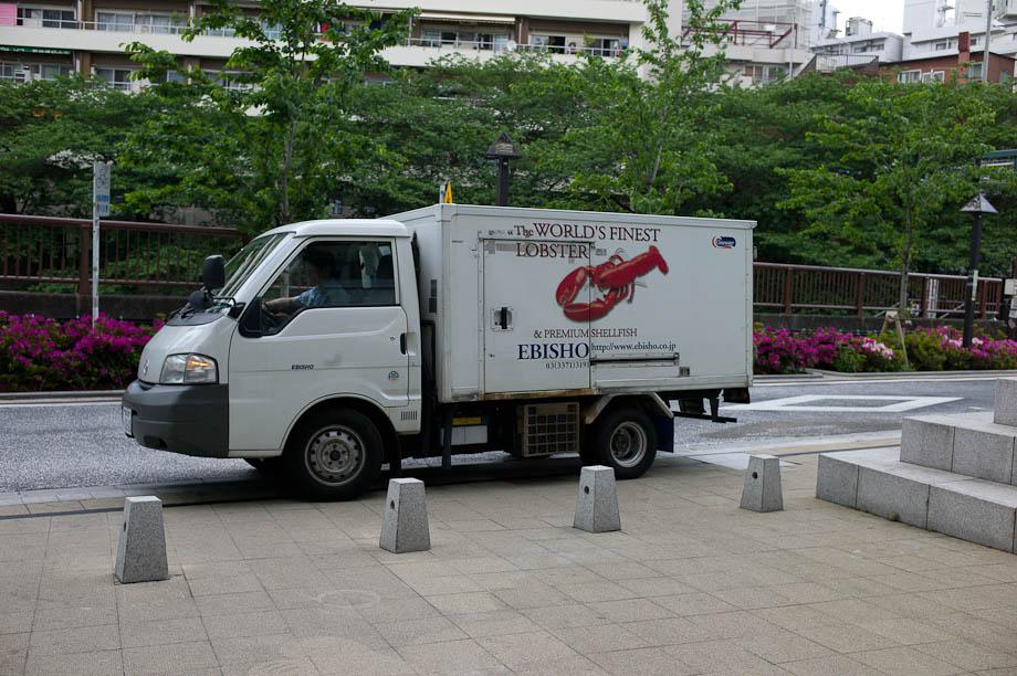 Lobster delivery in Tokyo, Japan