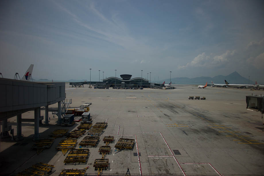 Runway at Hong Kong Airport