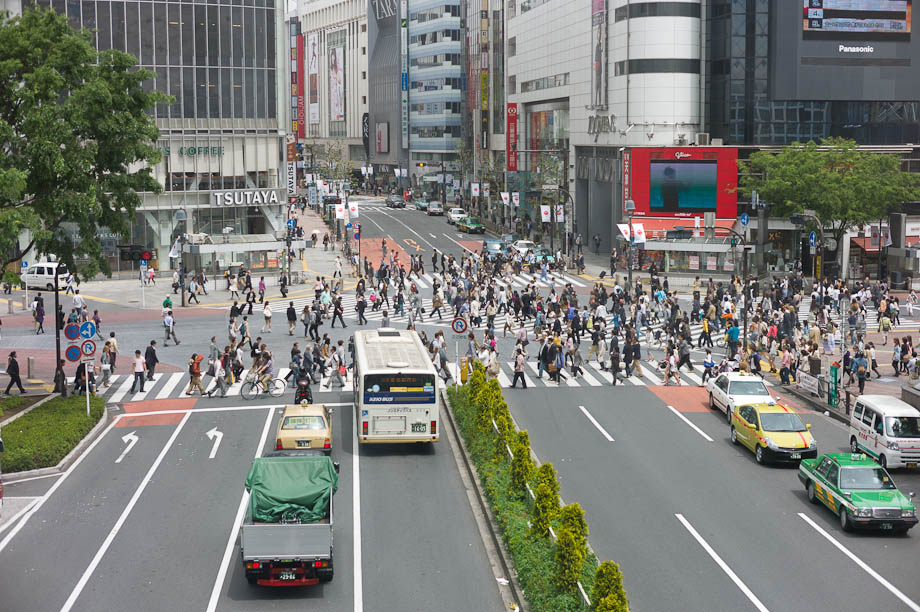 Quiet Shibuya Crossing