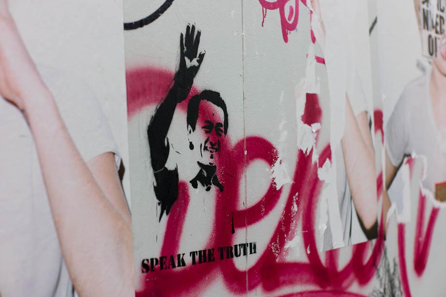 Graffiti in Shibuya, Tokyo, Japan