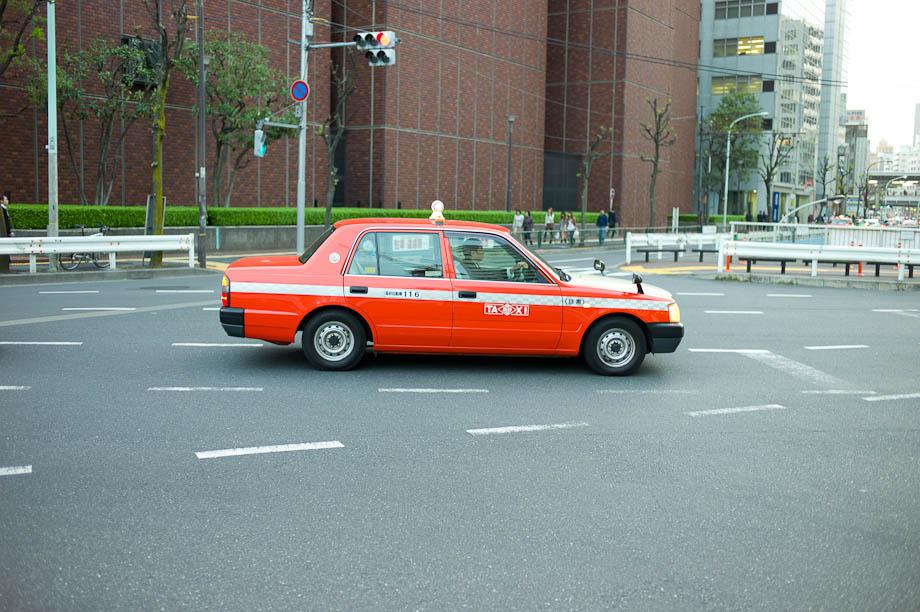 Taxi in Nakameguro, Tokyo, Japan