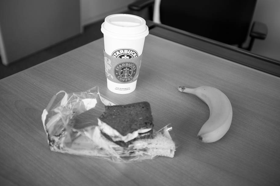 My Starbucks lunch at my desk