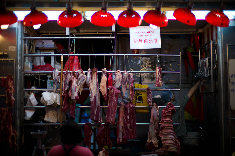 Wang Chai Market in Hong Kong