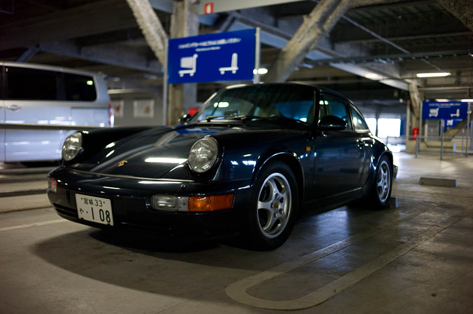Porsche parked at IKEA in Yokohama, Japan