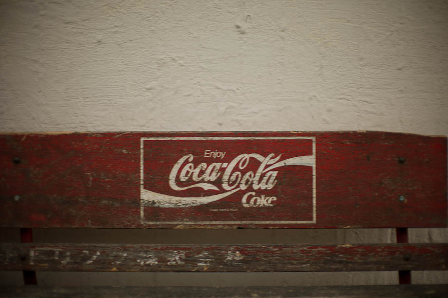 Old Coca Cola bench