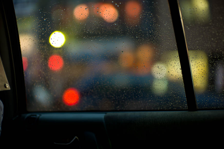 Bokeh out my taxi window