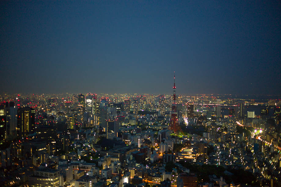 A view of Tokyo from the top of Roppongi Hills