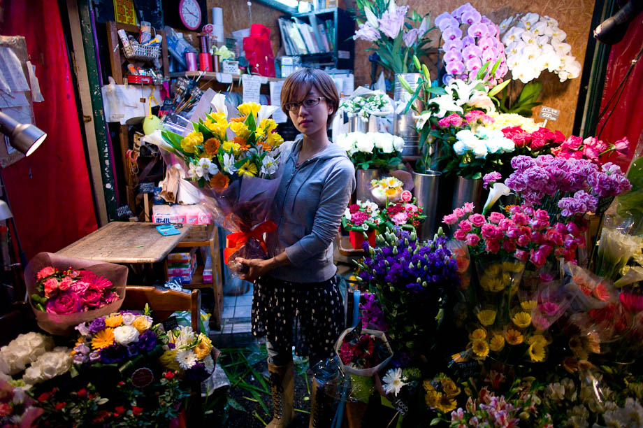 Flowers in Nishi Azabu