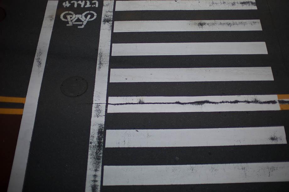 Bike crossing in Japan