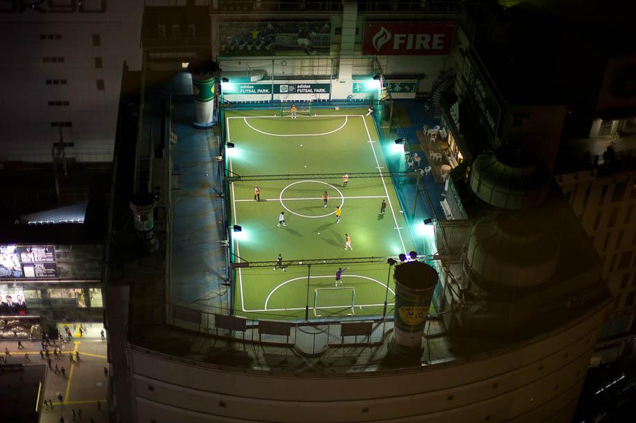 Roof Top Soccer in Shibuya, Tokyo, Japan