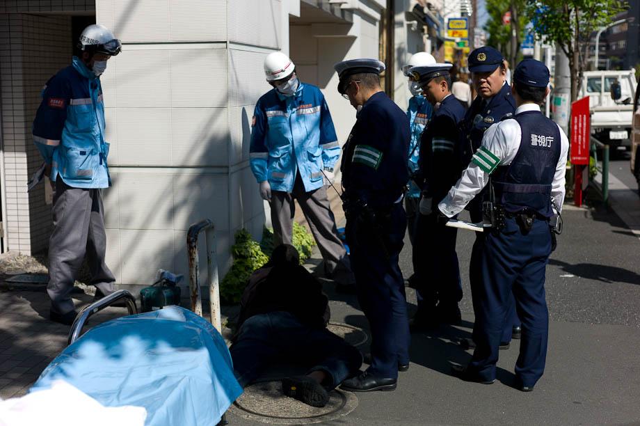 Police in Nakameguro, Tokyo, Japan