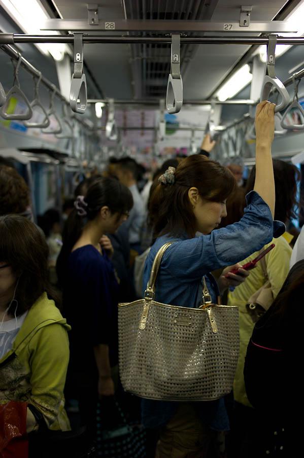 Crowded Tokyo Train