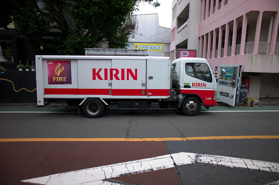 Kirin delivery truck in Tokyo