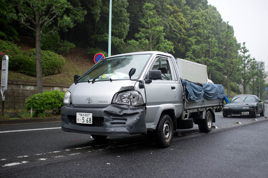 Car accident in Tokyo