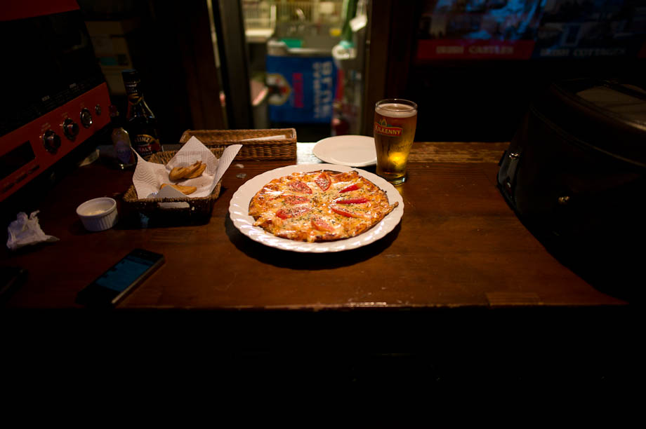 Pizza at O'Carolan's Irish Pub in Jiyugaoka