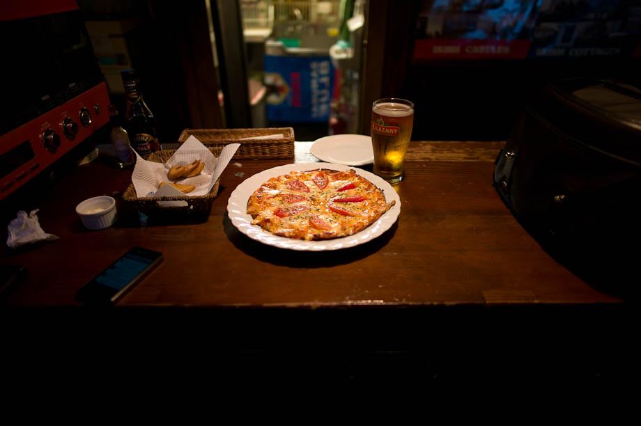 Pizza at O'Carolan's Irish Pub in Jiyugaoka
