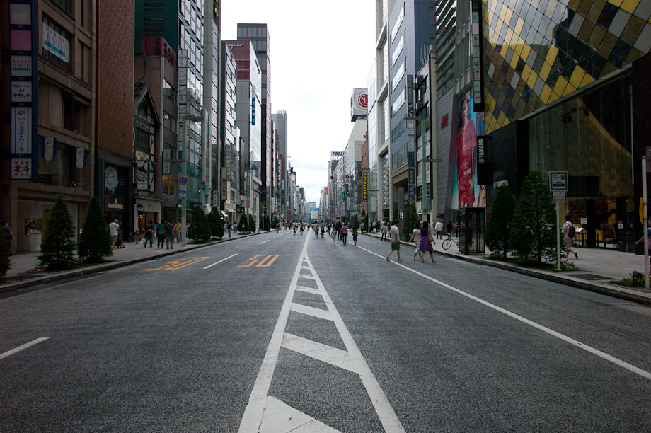 Ginza Streets on the weekend