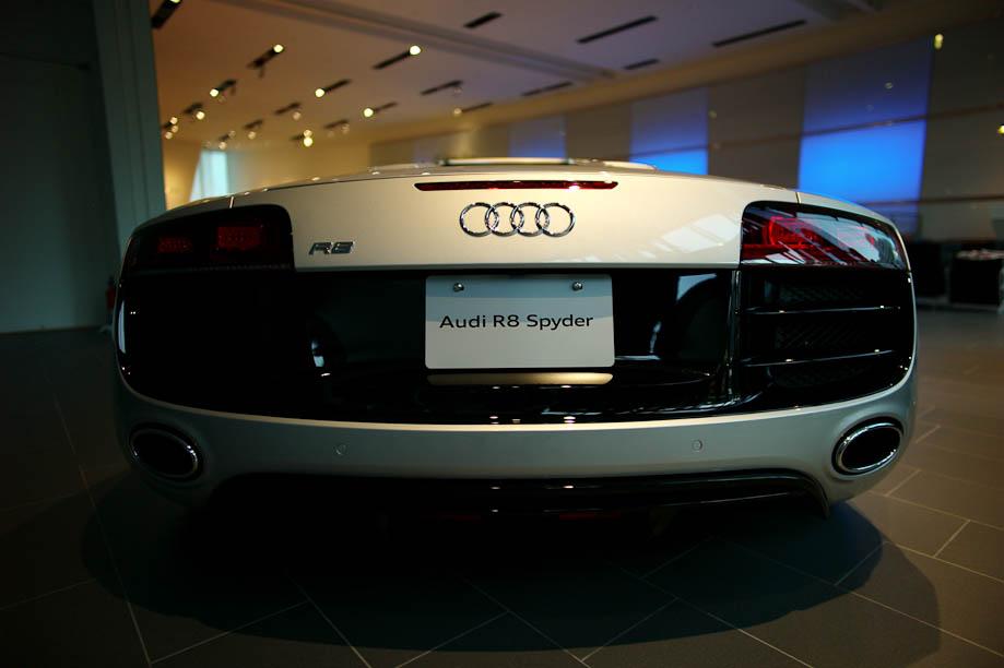 Audi R8 Spider at Audi Forum Tokyo