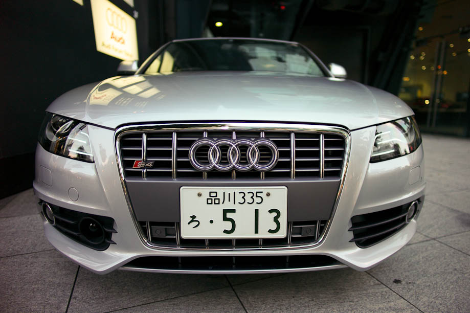 The ShootTokyo Audi S4 at the Audi Forum Tokyo
