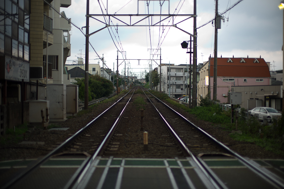 Train tracks in Jiyugaoka