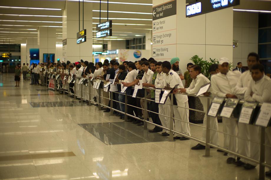Arrivals in Delhi