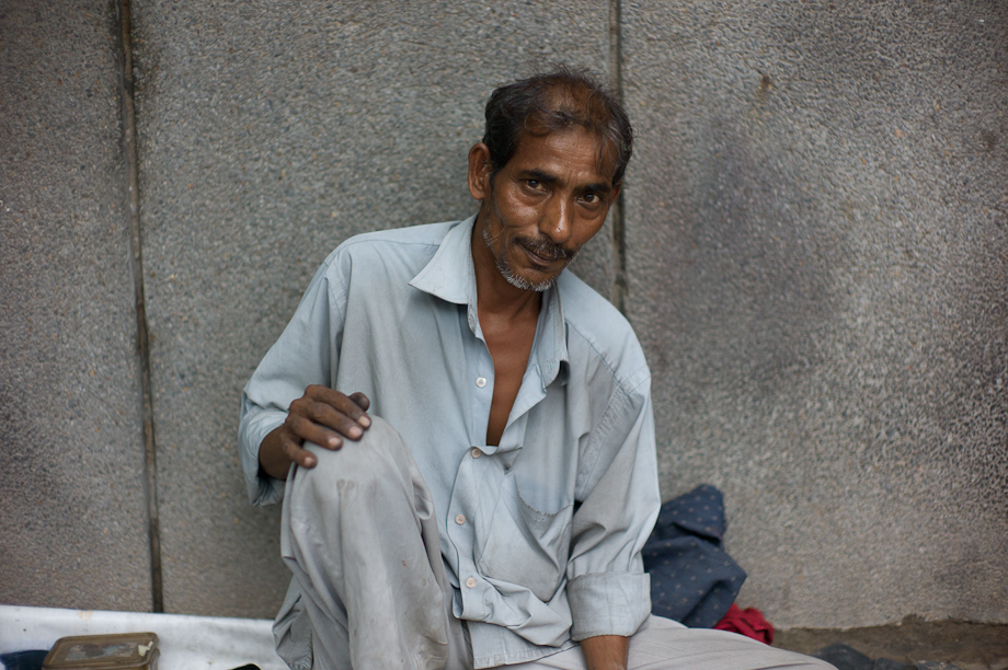Shoe Shiner in New Delhi