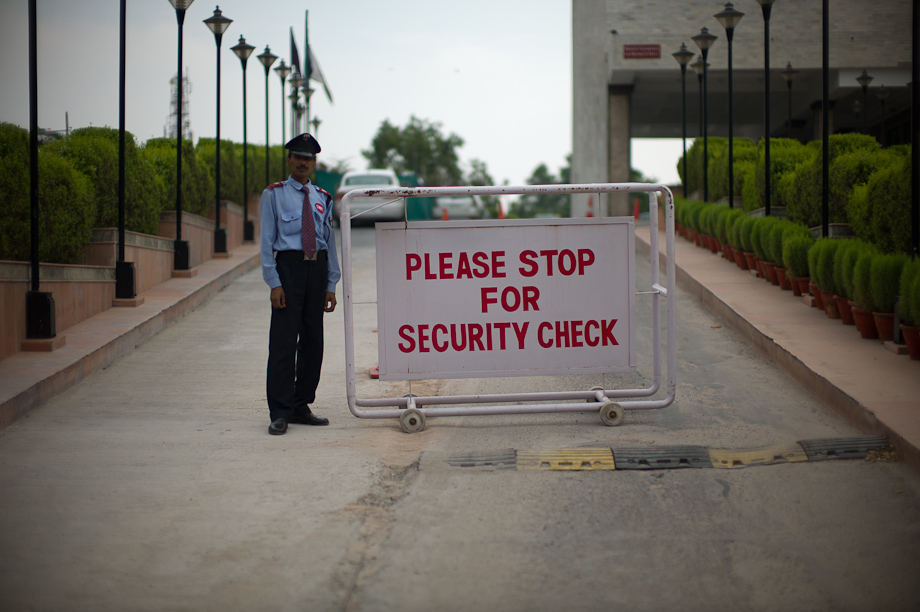 Security checks in India