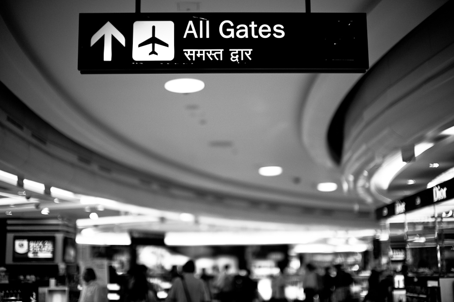 New Delhi Airport in India